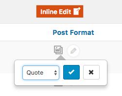Post Format Editing