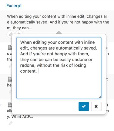 Excerpt editing