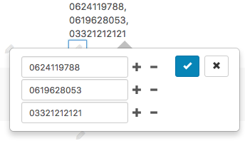 Inline edit support for multiple values with a new editing interface