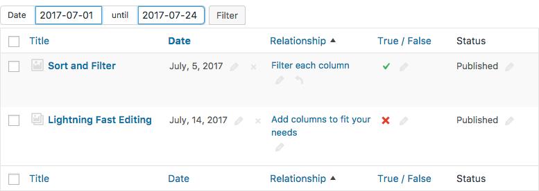Ranged filtering for Custom Fields