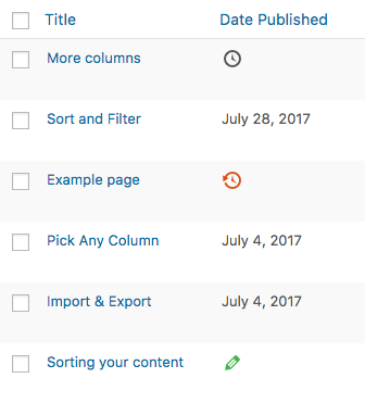 Date Column for WordPress