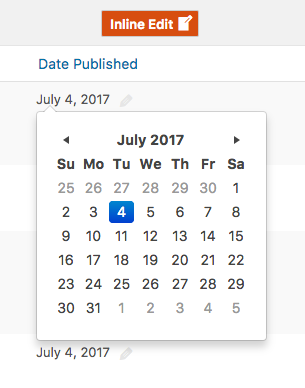 Edit Publish Date WordPress