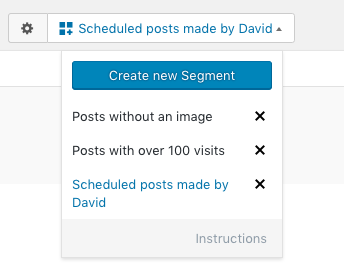 Filter the same content with Segments