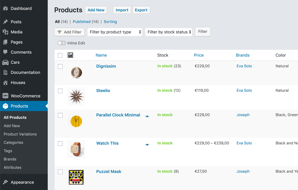 Customize the WooCommerce Products list table by adding your own columns using Admin Columns Pro
