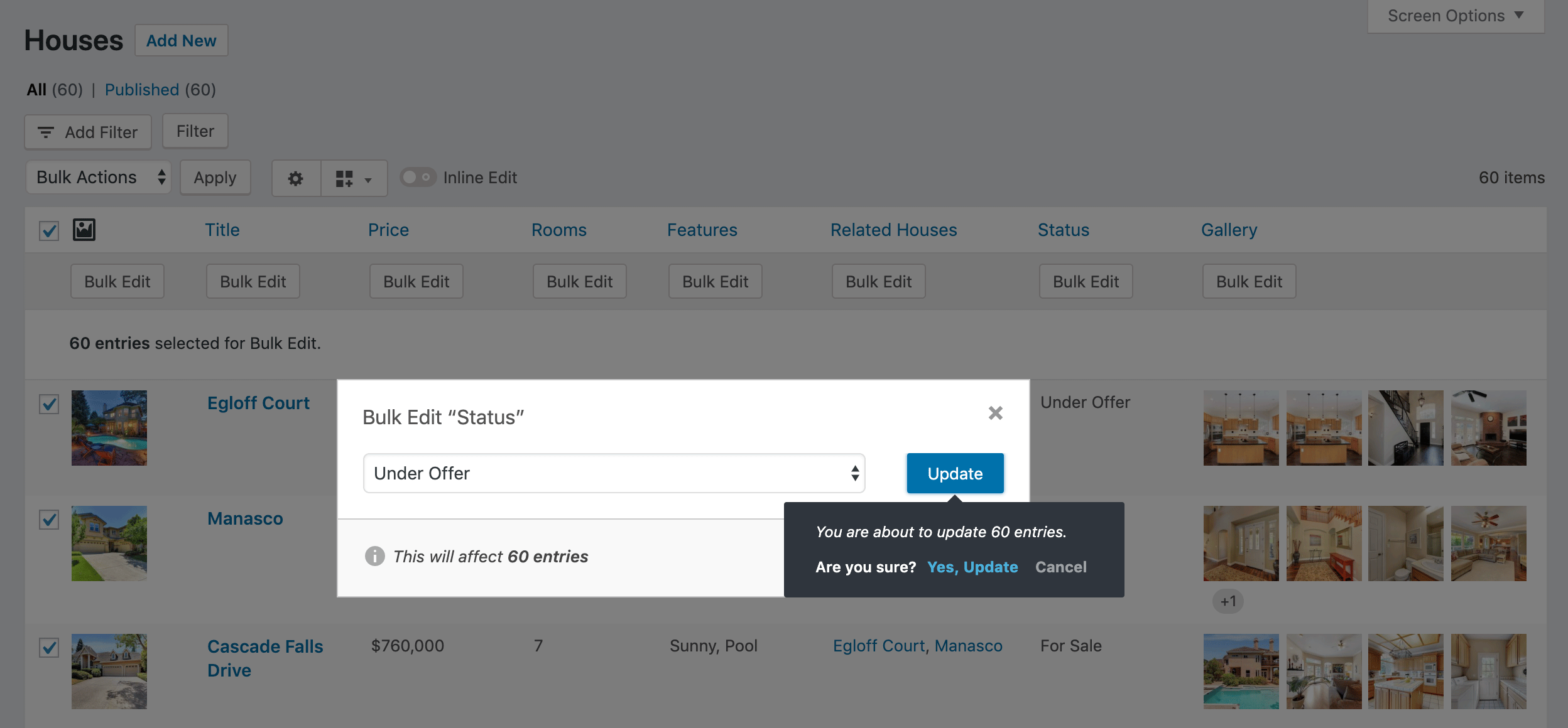 Bulk Edit any content from the WordPress list table - Admin