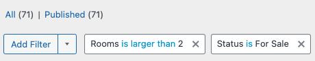 Combine Wordress filters screenshot